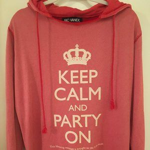 "Jac Vanek ""Keep Calm"" Red Hooded Sweatshirt"